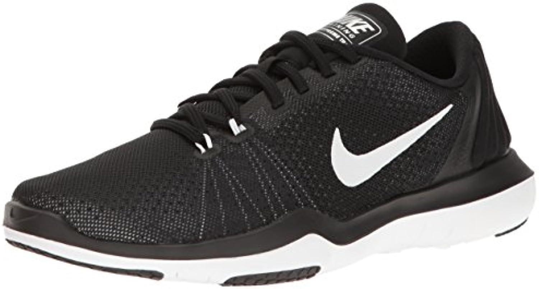 Nike Wmns Flex Supreme TR 5 - Zapatillas Deportivas, Mujer, Negro - (Black/White-Pure Platinum)