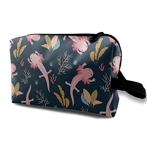Cowgirl-folie (Cute Swimming Axolotl Travel Storage Bag Makeup Cosmetic Bag Pouch)