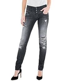 Salsa - Jeans slim fit Wonder push up effet usé - Femme