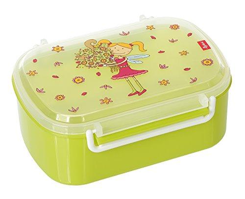 sigikid, Mädchen, Brotdose mit buntem Blumenfee-Druck, Brotzeitbox Florentine, Grün, 24782