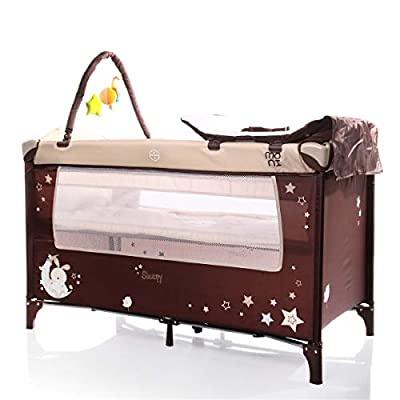 Sleepy Baby Cot/Folding Bed/Travel Cot Beige
