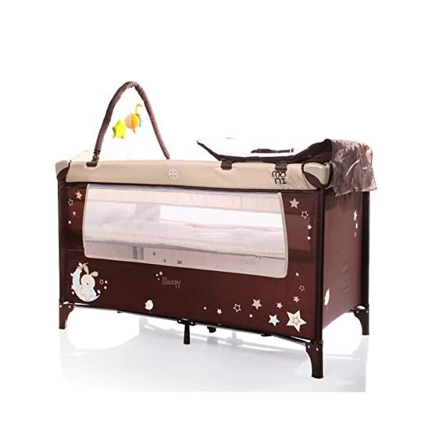 Sleepy Baby Cot/Folding Bed/Travel Cot Beige  Warnings: Watch your step! Use under the direct supervision of adults. 1
