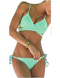 ZAIQUN Escotado Bañador con Acolchado Bikini Ropa de Baño
