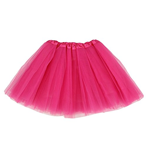 Damen's Lang Ballet Petticoat, Tütü rock Kostüme Petticoat , Party Dancewear Make-up Kostüme-Rose Rot (Kinder Rock And Roll Tanz Kostüme)