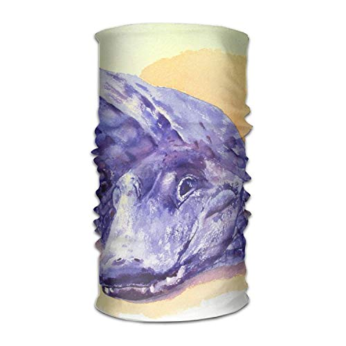 GWrix Alligator Watercolor Headwear Bandanas Seamless Headscarf Outdoor Sport Headdress Running Riding Skiing Hiking Headbands 19.7x9.85(Inch)/50x25(cm)