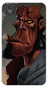 Crazy Beta Heavy cartoon man smoking style design Printed mobile back cover case for Oneplus X