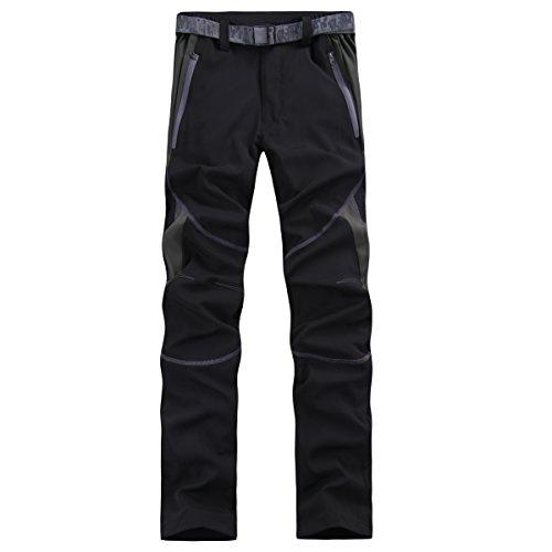 emansmoer Femme Softshell Doublé Polaire Coupe-Vent Imperméable Pantalon Outdoor Sport Camping Randonnée d'escalade Pants