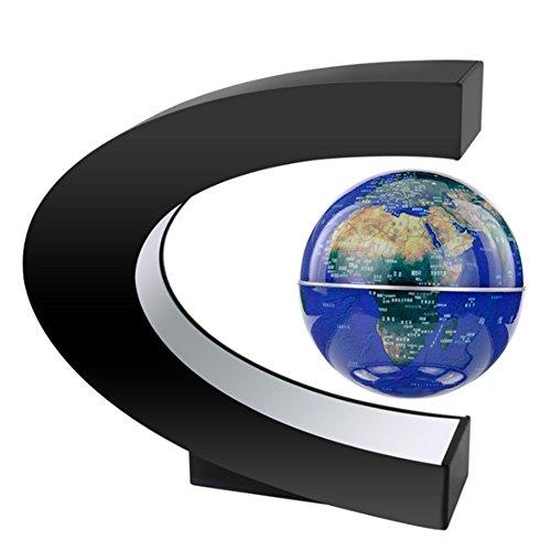 Anti - gravedad queestaremos creativas flotando planeta C forma de levitación magnética flotante decoracion globo Mapa del mundo con luces de colores LED para decoracion de escritorio, regalos de los