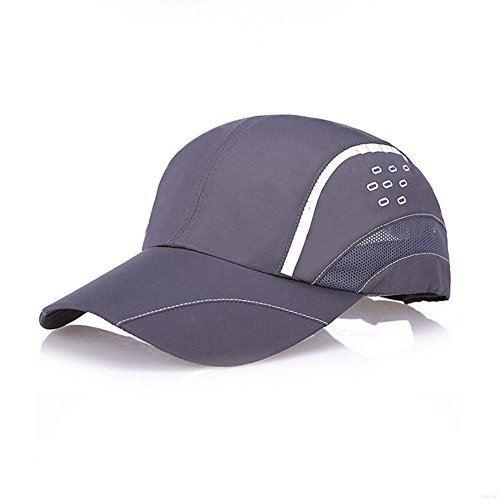 GADIEMENSS Quick Drying Breathable Running Outdoor Hat Cap Only 2 Ounces (DimGray 2) (Mlb-mesh-visor)