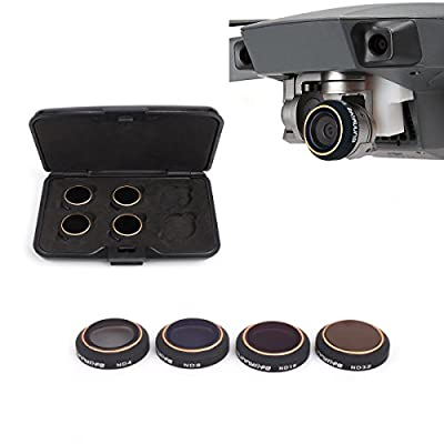 i.VALUX 4 Pieces Filter Kit for DJI Mavic Pro Drone Quadcopter Includes: CPL, ND4, ND8 and ND16 Filter, Made of Multi Coated Waterproof Aluminum Alloy Frame Optical Glass (MC-16)