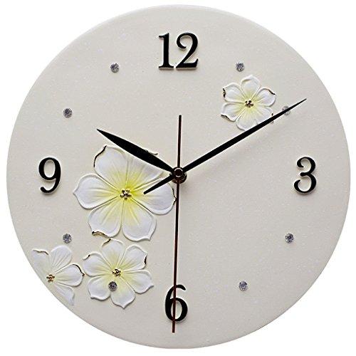 LINA Creative Mode Horloge Murale Salon Chambre Simple Personnalité Atmosphérique Mur Graphiques Tendance Horloge Décorative Mute Rond en Relief Horloge