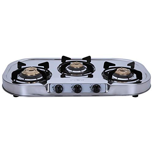 Elica 3 Burner Stainless Steel Gas Stove (INOX 753 SS)