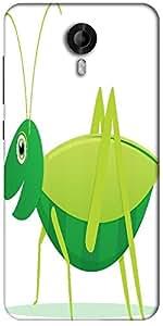 Snoogg Cute Cartoon Vector Grasshopper Designer Protective Back Case Cover For Micromax Canvas Nitro 3 E455