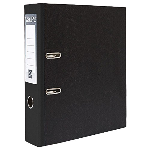 5 x Black A4 Large 75mm Lever Arch Files Folders Metal Edge & Finger Pull Stationery Document Storage Paper Office School