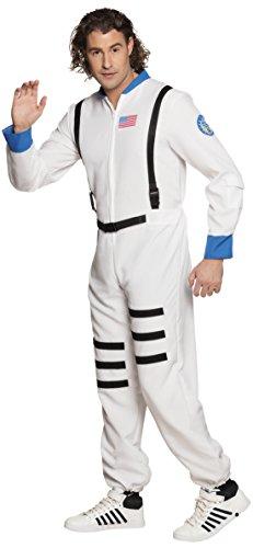 Luxuspiraten - Herren Astronauten Kostüm Overall mit Reißverschluss Streifen , L/XL, - Kostüm Astronaut Frauen Für