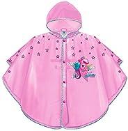 PERLETTI Poncho Impermeable Niña Unicornio - Chubasquero de Lluvia con Capucha y Botones - Rosa Transparente c