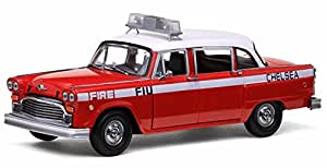 1981 Checker Chelsea Fire Engine, Red Sun Star 2508 1/18 Scale Diecast Model Toy Car