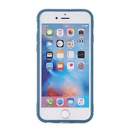JIALUN-Telefon Fall Ultra Slim Carbon Fibre Button Desing Shockproof Hard Back Cover 360 ° Ganzkörper Schutz TPU Case Cover für iPhone 6 Plus & 6s Plus ( Color : Red ) Skyblue