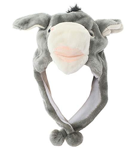 JOYHY Unisex Kinder Winter Plüsch Ohrenklappen Tier Hüte Grau ()
