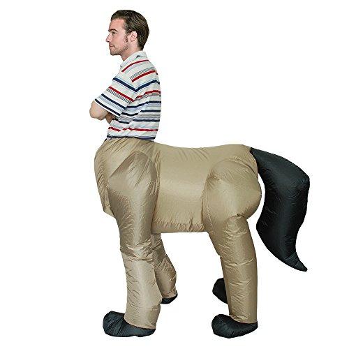 Decdeal adulto gonfiabile costume cavallo gonfiabile costumi costume rider animale costume