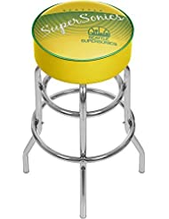 NBA Seattle SuperSonics Hardwood Classics Bar Stool, One Size, Chrome by Trademark Gameroom