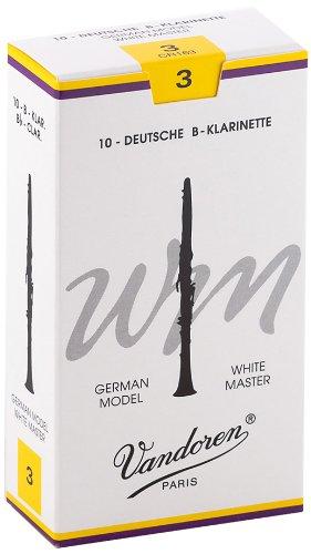 Vandoren Blätter B-Klarinette Deutsch 3,0 White Master WM