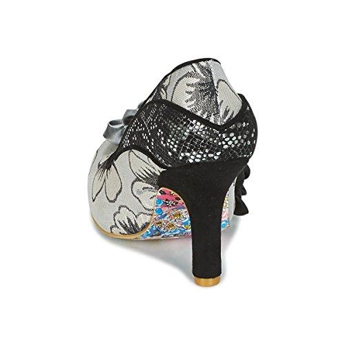 Irregular Choice Womens Peach Melba Textile Shoes Black