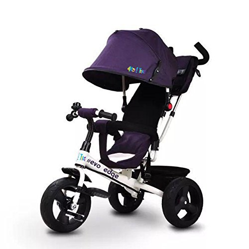 JOY 4KiDS! TRiKE Dreiräder #evo edge, 3in1, Gummi Reifen, purple (Edge Evo)
