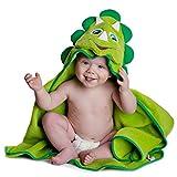 Baby-Badetuch/Kapuzenhandtuch im Dinosaurier-Design - 100% Flauschige Baumwolle - Perfekt als Geschenk für Neugeborene, Säuglinge