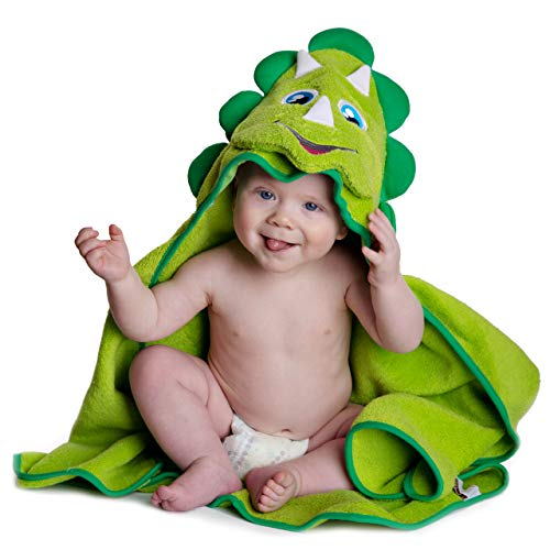 Toalla Con Capucha Para Niños - Dinosuar Por Little