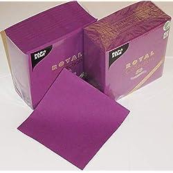 Lot de 100 serviettes en cellulose douces et confortables avec aspect tissu - Indéformable - 3 plis - Pliage 1/4-33 x 33 cm - 33 x 33 cm