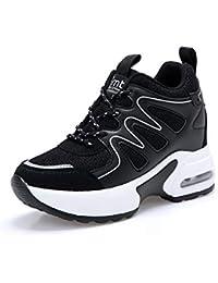 26ccf293c532 AONEGOLD Basket Femme Compensee Chaussure de Sport Gym Fitness Sneakers  Basses Compensées Talon de ...