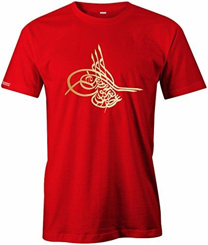 Tugra - Osmanisches Zeichen - Herren T-Shirt in Rot by Jayess Gr. XXL