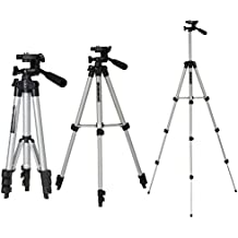 TOP-MAX 42 inch Silver Lightweight Video Camera Camcorder Tripod Stand with Carry Case