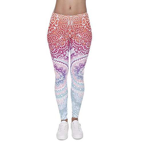 Ouinne Mallas Deportivas Leggins, Mujer Yoga Pantalón Elástico Cintura Altura Polainas para Running Pilates Fitness