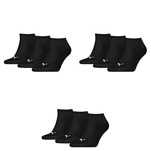 9 pair Puma Sneaker Invisible Socks Unisex Mens & Ladies