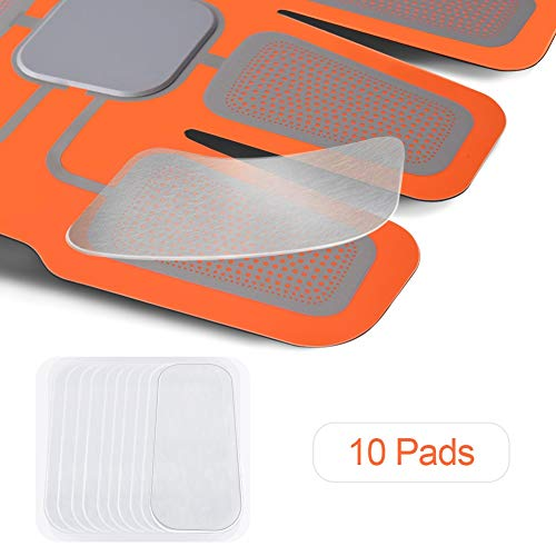 HURRISE Replacement Abs Trainer Gel Pads & Gel Sheets 2 Pads × 5 Packungen (10 Pads) Gelpaste in weißer Box