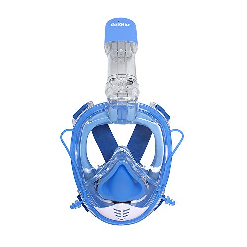 Unigear Masque de Plongée, Masque Snorkeling, Antibuée Anti-Fuite sous-Marine, Snorkel Masque (Bleu)