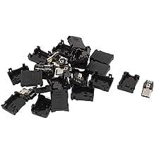 Conector macho micro USB - SODIAL(R)10pzs 5 pines Conector clavija macho de tipo B micro USB Cubierta plastica