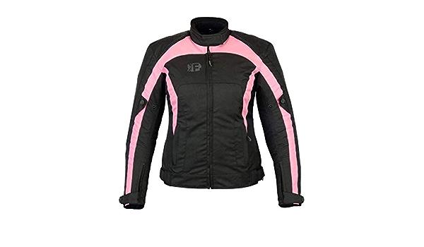 Freeday Motorradjacke Für Den Winter Damen Schwarz Rosa Bekleidung