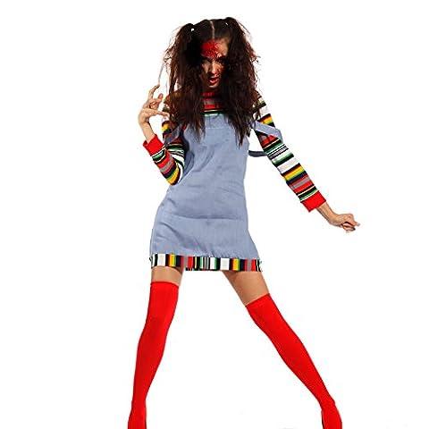 Karneval Chucky die Moederpuppe Kostuem Puppenkostuem Zombie Horror Kostuem Chuckykostuem (Chucky Maske Kostüm)