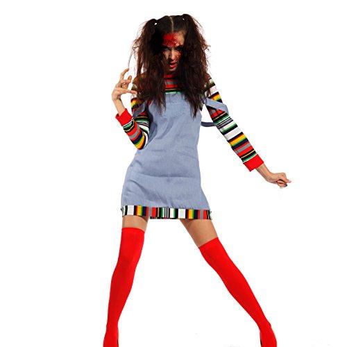 Moederpuppe Kostuem Puppenkostuem Zombie Horror Kostuem Chuckykostuem (Chucky Kinder Kostüme)