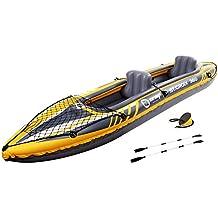 JILONG Kayak St. Croix II Canoa para 2 personas, 350x 78x 52cm, bote de remos inflable con 160 kg de capacidad -