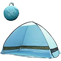 TourKing Outdoor Automatic Pop up Instant Portable Cabana Family Tent Shelter Beach Tent