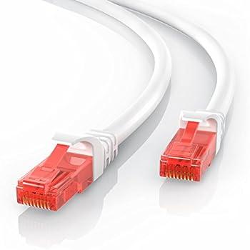 CSL - 30m CAT.6 Ethernet Câble Gigabit LAN Réseau | 2x fiches RJ45 | haute vitesse 10 / 100 / 1000 Mo/s | UTP | PC / Switch / Router / Modem / TV Box / Consoles de Jeux Vidéo | Blanc