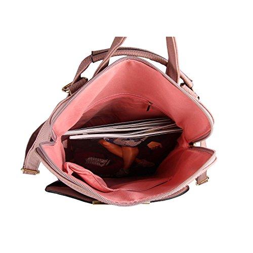 OBC Only-Beautiful-Couture, Borsa a zainetto donna Rosso Bordo 32x32x14 cm ca.: 32x32x14 cm (BxHxT) Cognac.