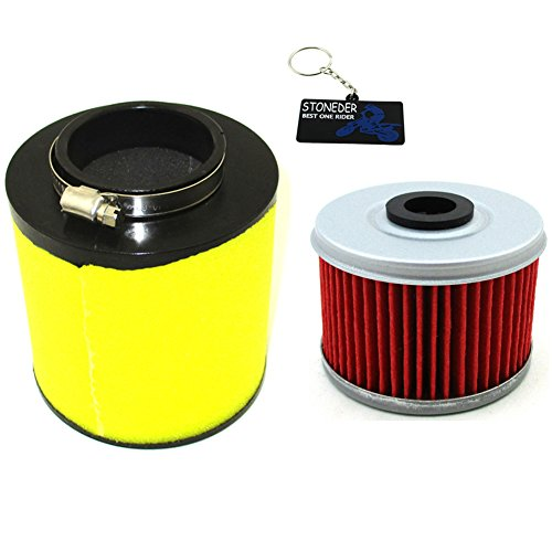 STONEDER Filtre à air + Filtre à Huile pour Honda 17254-hn5-670 ATV Trx350fe Trx350fm Trx350tm