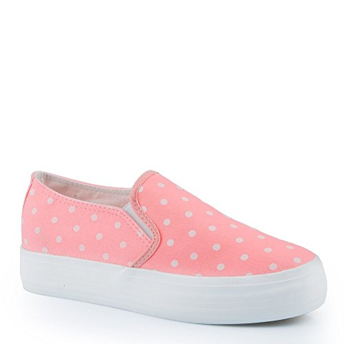 Ideal Shoes - Slip-on à pois Eleanie Rose