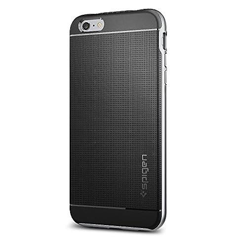Coque iPhone 6s Plus, Spigen® Coque iPhone 6 Plus / 6S Plus [Neo Hybrid] Premium Bumper [NH_Argent Satiné] Protection complète absorption des chocs coque pour iPhone 6 Plus (2014) / 6s Plus - NH Satin Silver (SGP11665)