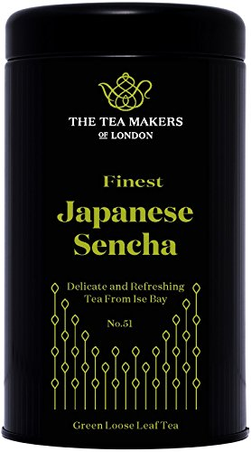 The Tea Makers of London Japanese Sencha Green Loose Leaf Tea 125 g Caddy